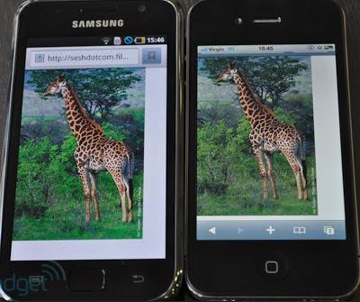 Iphone Retina Display Vs Super Amoled Plus