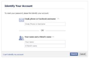 facebook identify
