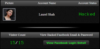 Final Visit count on Facebook hacked
