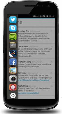 Ubuntu smartphone gesture