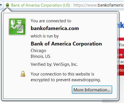 BoA identified by Firefox