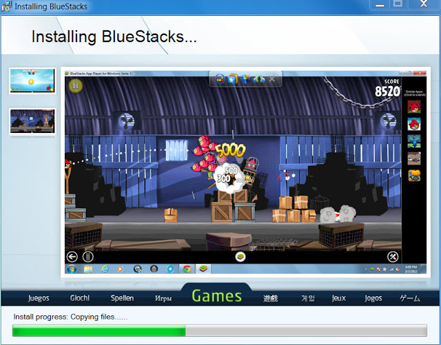 BlueStacks on Win 7 installation 3