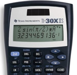 an old calculator uses LCD display