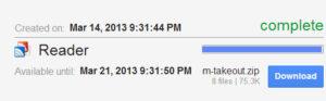 Google reader data download