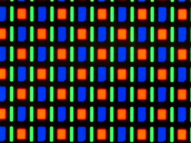 RG BG sub-pixel array as in Super AMOLED