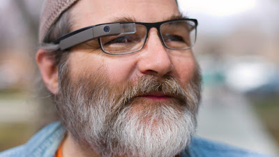 Person wearing Google Glass