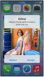 AirDrop on iOS 7