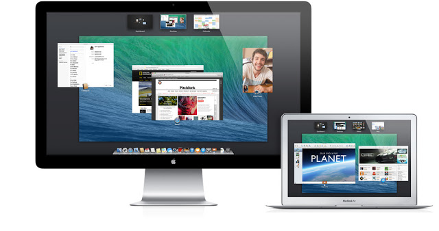 OS X Mavericks on screen