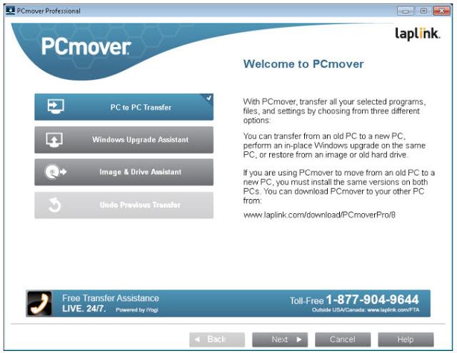 PC Mover dialog