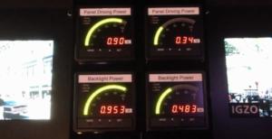 IGZO power consumption