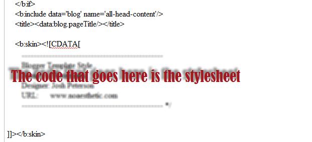 css on blogger
